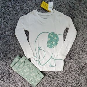 NWT size 5 GAP Pajama set Elephants and Flowers
